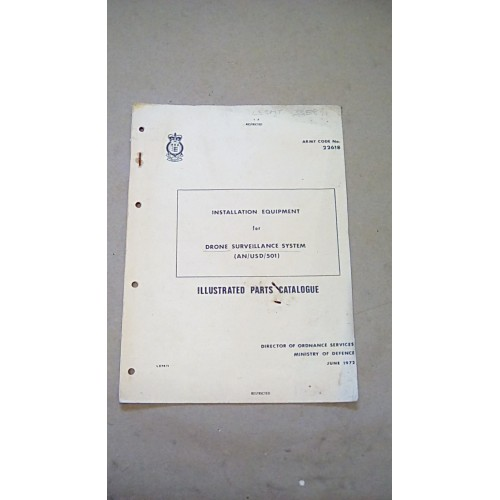 ILLUSTRATED PARTS CATALOGUE INSTALLATION DRONE SURVEILLANCE SYSTEM AN USD 501